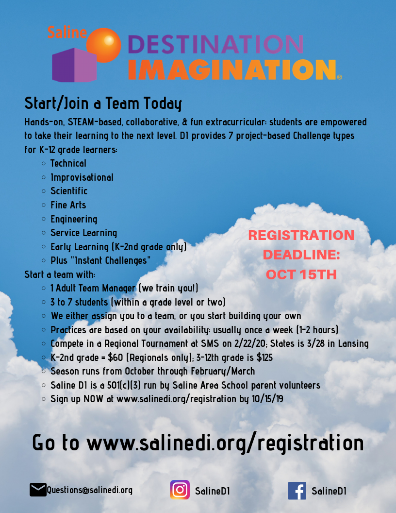 Start a Team informational flyer